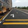 斑马线划线施工 通道线划线 边缘线划线 交通热熔标线
