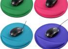 热卖圆形电脑游戏护腕鼠标垫 环保材料保护柔软外贸定制 厂家批