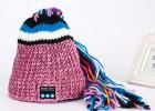 帽子女秋冬蓝牙帽子尼泊尔长发帽脏辫帽欧美创意手工编织帽