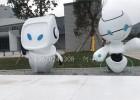 深圳智展中心3米高机器人外壳雕塑透光树脂材质生产