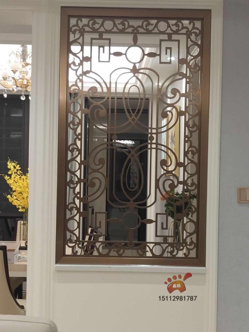 无指纹玫瑰金不锈钢屏风、酒店装饰有目共睹款式日新月异效果图