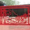 商业街购物人剪影雕塑 传统剪纸文化雕塑