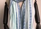 苏州围巾厂-人棉小提花梭织围巾
