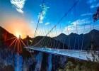 成都网红景区玻璃吊桥  悬索桥玻璃匝道