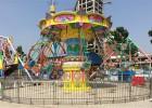 广场新型儿童娱乐玩具飓风摇头旋转飞椅厂家12座西瓜电动飞椅