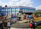 新款儿童室内外旋转翻滚音乐飞船电动轨道小火车游乐设备主题公园