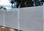 珠海沿海防风冲孔板围挡 建筑围篱 白色美观轻钢结构坚固耐用