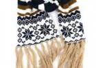 宁波景余东方服饰帽子围巾手套工厂圣诞雪花针织提花围巾