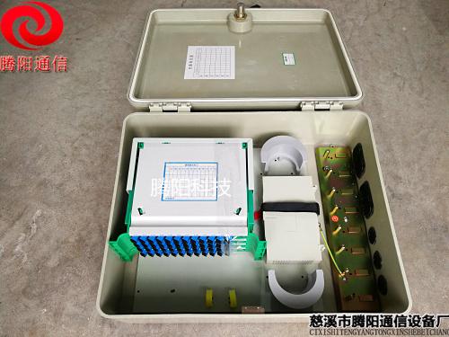 光缆交接箱48芯壁挂式 SMC48芯光交箱图片