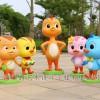 动画萌鸡小队麦奇雕塑 各种萌鸡动物摆件