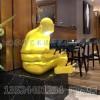 图书馆看书人物雕塑 创意书本摆件定制
