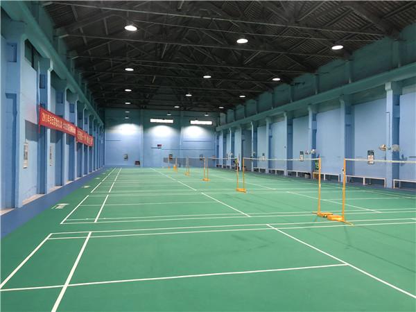 广州羽毛球场建设、室内羽毛球场塑胶PVC地板厂家