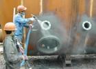 环氧云母氧化铁漆漆膜厚刷涂施工效果好