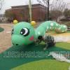 幼儿园绿色毛毛虫雕塑 糖宝昆虫雕塑玻璃钢材质