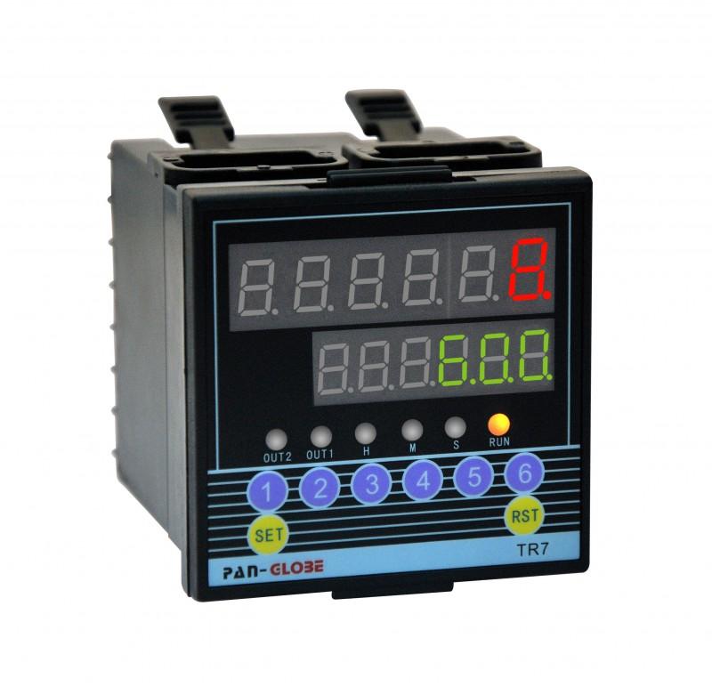 高精度双段六位定时器TR7-H26带485通讯计时器