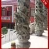 石雕盘龙柱雕刻 石雕盘龙柱厂家