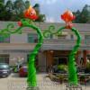 幼儿园创意假树门头雕塑 假树精灵雕塑 假树造型设计