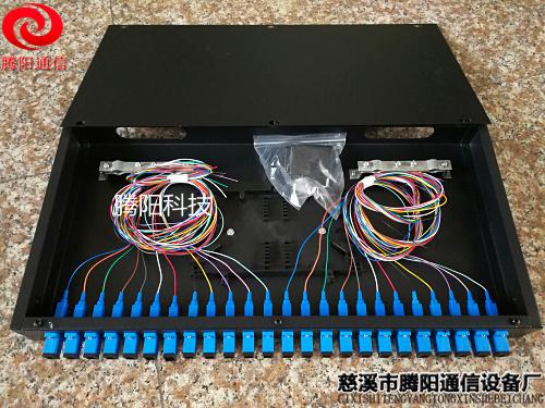 SC24口机架光纤盒 SC24芯光缆终端盒 12口光纤盒