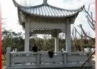 仿古飞檐式石亭子雕刻 园林单层四角石雕凉亭