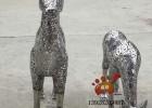 景观不锈钢梅花鹿雕塑给现代生活增添了生命的活力和魅力