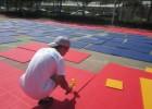 悬浮拼装地板,安全地垫,组合式运动地板