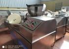 制作黏性大的鱼糕鱼丸鱼豆腐用的125斩拌机,山东125斩拌机
