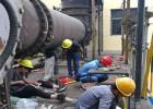 山東省齊河市某焦化廠焦爐煤氣放散點火正在施工中