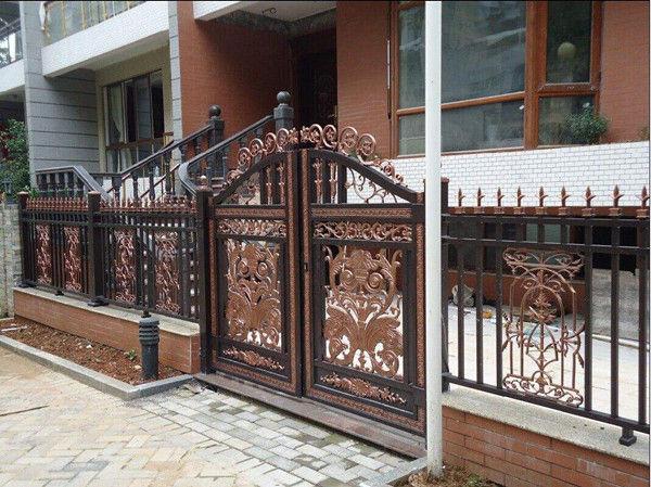 定制河北铝艺大门庭院大门现代风格铝合金大门