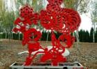 不锈钢剪纸雕塑,窗花剪纸造型雕塑