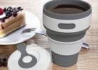 博卓 户外旅行硅胶折叠水杯伸缩杯 便携洗漱杯咖啡杯折叠杯子