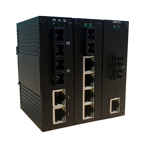讯记2口千兆紧凑型非网管工业以太网交换机