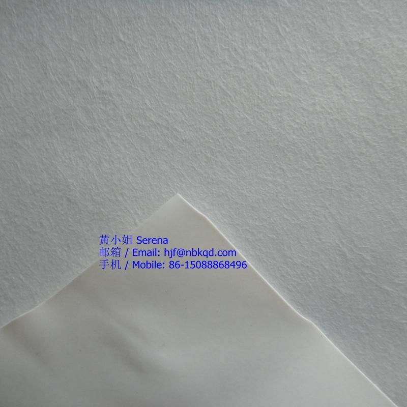抗菌防过敏白色PVC涂层无纺布医疗血压计袖带面料230克