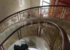 佛山专业生产铜艺楼梯扶手  简约好看的铜艺屏风