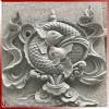 藏传佛教八宝青石浮雕壁画 石材浮雕生产厂家