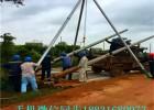 12米金属扒杆抱杆 线杆立杆机 山区专用立杆机