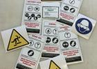 不干胶防水警告标签 户外耐晒警示标