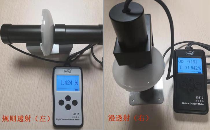 林上LS116和LS117透光率計測試燈罩透光率