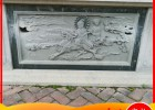 石雕照壁青石浮雕 寺庙浮雕麒麟送子石浮雕