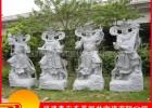 石雕四大天王 芝麻白四大金刚 仿古寺院景区佛像石雕