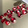 红刚玉裸石 首饰配饰人造合成红宝石源头 厂家直销