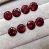 梧州人工合成宝石 AAA石榴红圆形锆石 戒指饰品裸石厂家批发