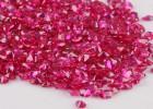 4.0MM圆形色红刚玉裸石 首饰配饰人造合成红宝石源头 厂家