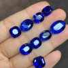 高质蓝刚玉 梨形 合成水滴蓝宝石 人造裸石配石厂家直销