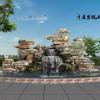 晋中塑石假山设计|斧劈石假山施工|千层石假山厂家