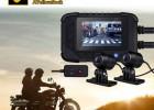 摩托车电动车车专用行车记录仪前后双镜头广角1080P高清