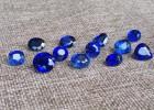 厂家直销首饰蓝宝石裸石戒面椭圆 纯手工蓝宝石裸石 一件代发