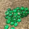 0.8~12mm人工祖母绿宝石小圆形氧化锆石裸石梧州工厂批发