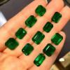 纯手工镶嵌裸石仿天然祖母绿 简单大方 厂家批发一件代发
