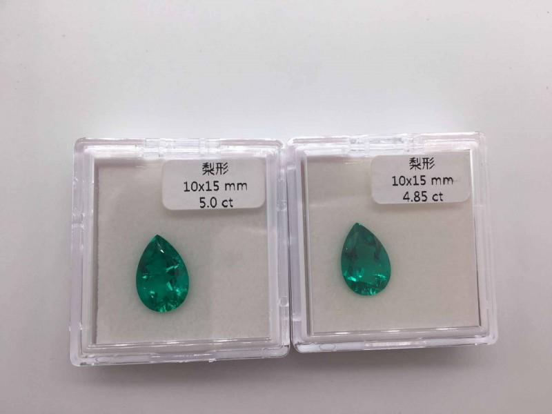 仿祖母绿宝石梨形水滴形宝石裸石 天然水晶仿天然哥伦比亚祖母绿
