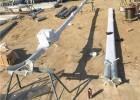 批发零售120*4水泥杆三角立杆机/立12米电线杆立杆机厂家